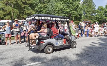 One of Peachtree City's signature vehicles was a part of last year's July 4 parade. File photo.