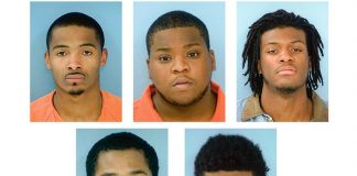 Burglary suspects (L-R, top) Brandon Wallace, Daevon Speller, Dante Stubbs; (botton, L-R) Terrance Coffil and Trevion Hinesman. Photos/Fayette County Jail.