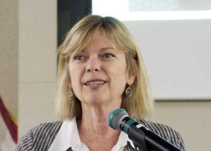 Peachtree City Council member Kim Learnard at the Dec. 7 meeting. Photo/Ben Nelms.