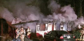A Fayette County family escaped a blaze in the early morning hours of Dec. 28 that resulted in a total loss of their home. Photo/Fayette County Fire and Emergency Services.