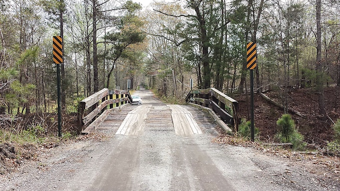 The old bridge on Coastline Road over the CSX tracks will be replaced by by the Ga. Department of Transportation. Photo/Fayette County.
