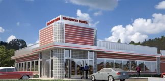 The new location for the Broadway Diner is set for Ga. Highway 54 in Fayetteville just west of Grady Avenue. The restaurant had been expected to open in early 2019. Graphic/Jefferson Browne Gresham Architects.