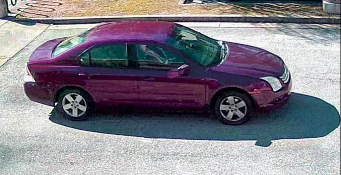 Fayetteville police said this vehicle (above) is of interest in a Jan. 31 incident at the Fayette County Library in Fayetteville. Photo/Fayetteville Police Department.
