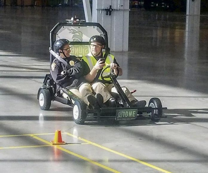 This new grant-funded go-cart will be used by the Peachtree City Police Department for a new motorized cart safety course. Photo/Peachtree City Police Department.