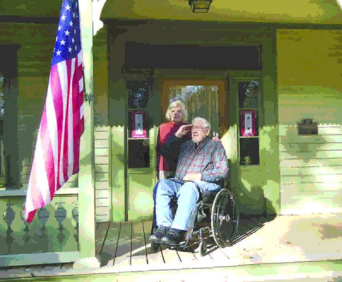 Glenn and Jeanne Brewer in 2014 commemorated Veterans Day at their Fayetteville home. Photo/The Citizen.