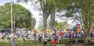 Easterpalooza on the courthouse square in Fayetteville. File photo.