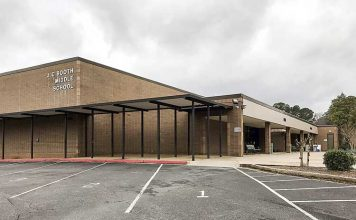 J.C. Booth Middle School in Peachtree City, off South Peachtree Parkway. Photo/Ben Nelms.