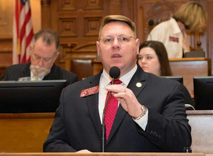 Rep. Josh Bonner in the well of the House of Representatives. File photo.