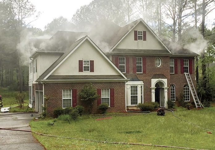 A kitchen fire on April 15 caused minor damage to a home off Ga. Highway 74 South near Peachtree City. Photo/Fayette County Fire Department.
