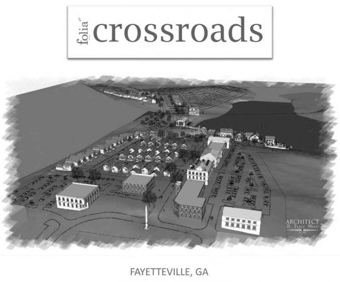 Architect's drawing of proposed multi-use development. Graphic/City of Fayetteville.
