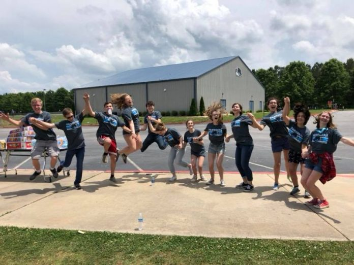 Rising Starr Middle School students celebrate the close of the school year. Photo/School's Facebook page.
