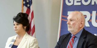 District 2 Board of Education Republican candidates Traci Fuller (L) and Roy Rabold. Photo/Ben Nelms.