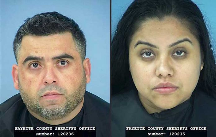 Efrain Gonzalez-Salgado (L) and Estela Gonzalez. Photos/ Fayette County Jail.