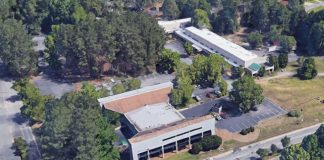 Google aerial view of Bank of America building in Aberdeen Center.