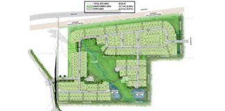 Plan for Wilksmoor Village rezoning. Graphic/Peachtree City Council.