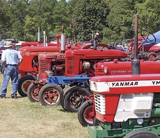 Some of these restored antique tractors are scheduled to be at Inman Farm Heritage Days this weekend. Photo/Submitted.