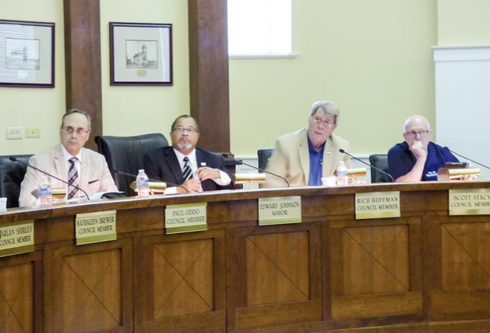 The Fayetteville City Council at an October meeting. Photo/Ben Nelms.