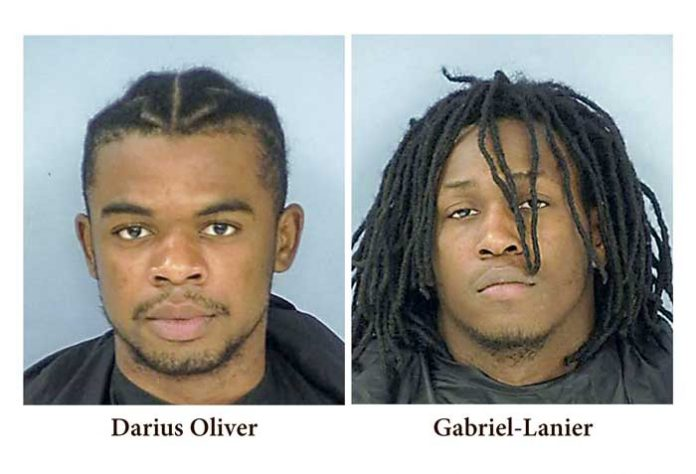 Darius Oliver (L) and Gabriel Lanier. Photos/Fayette County Jail.