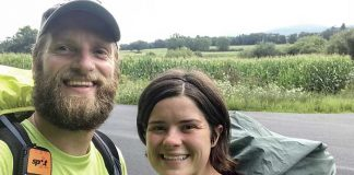 Maddie and Trey Cason saw a large section of the country and made plenty of new friends during their five-month hike along the Appalachian Trail. Photo/Trey Carson.