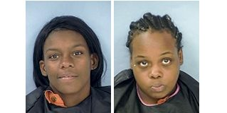 Clockwise from top left, Angel D. Jackson, Brittney E. O'Neal, Destiny P. Carby and Taneisha L. Pope. Photos/Fayette County Jail.
