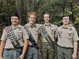Pictured, from left, are Lewis Cuello, Cole Chapple, Andrew Villars and Tanner Sutherland. Photo/Submitted.