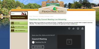 Peachtree City's website offers streaming video of its meetings, as does Fayette County. Photo/Peachtree City website.
