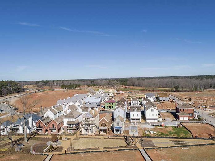 A drone's-eye view of completed homes at Pinewood Forest. Photo/Pinewood Forest.