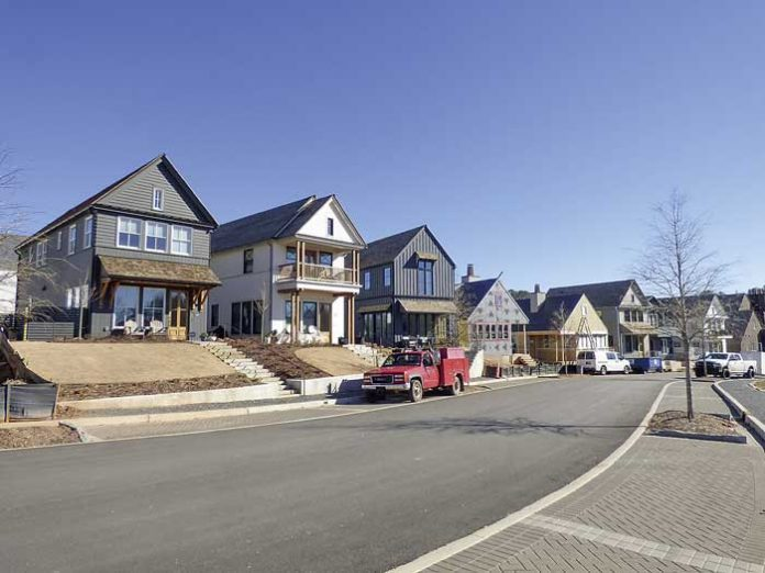 These are a few of the 80 homes built at the large Pinewood Forest development on Veterans Parkway in Fayetteville as of January 2019. Photo/Ben Nelms.