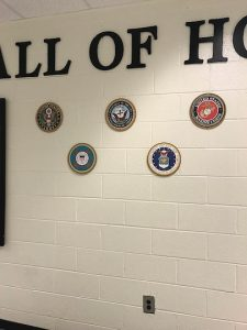 Closeup of Wall of Honor display. Photo/Submitted.