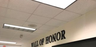 The Wall of Honor at McIntosh High School. Photo/Submitted.