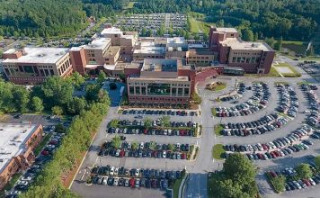 Aerial view of the current Piedmont Fayette Hospital in Fayetteville. Photo/Submitted.