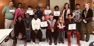 North Fayette Elementary staff and students. Photo/Fayette County School System.