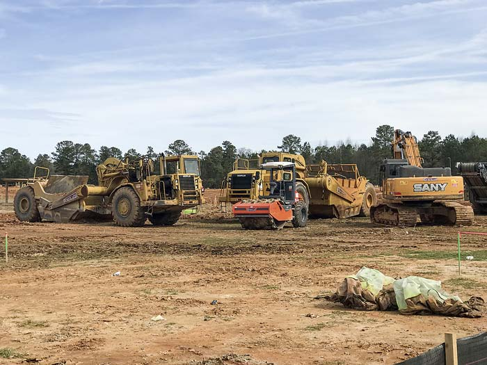 Work is underway on the 157,000 sq. ft. Costco expected to open in August at the Fischer Crossing commercial development on Ga. Highway 34. Photo/Ben Nelms.
