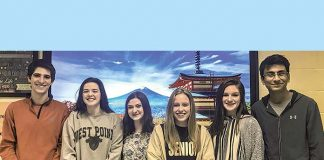 GEN-J Atlanta High School Trip to Japan participants from left to right: Zack Stone, Katie Phillips, Jennifer Fenton, Mikaela Rohn, Liz Raymer, and Man Shah. Photo/Fayette County School System.
