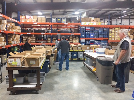 The new building offers a more spacious food pantry, bread pantry, clothing closet as well as a warehouse in which to serve people in our community who are struggling financially. Photo/Submitted.