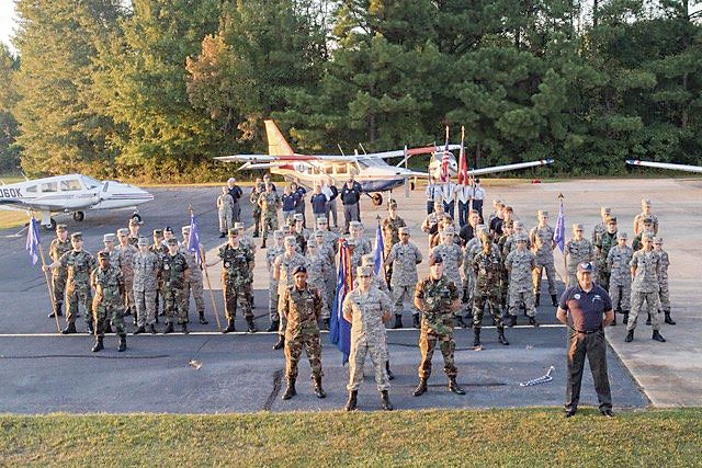 Members of the Civil Air Patrol Peachtree City-Falcon Field Composite Squadron. Photo/Submitted.