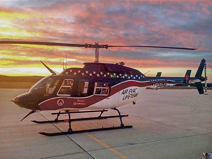 A typical Air Evac helicopter shown on the company's Facebook page.