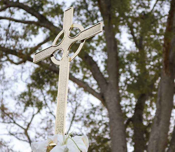 The cross provided by the First United Methodist Church of Fayetteville graced the church's Easter sunrise services last year and is expected to be present this year as well.