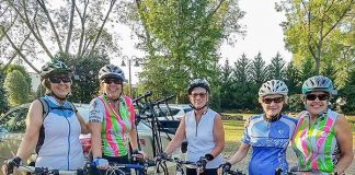 Ladies On Spokes Members ready for a group ride. Photo/Submitted.