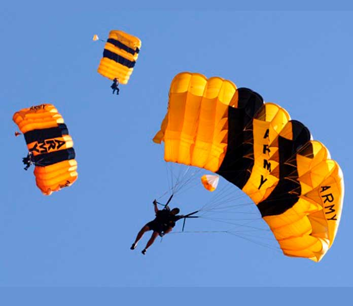 The U.S. Army Golden Knights will also display acclaimed parachuting skills this weekend.