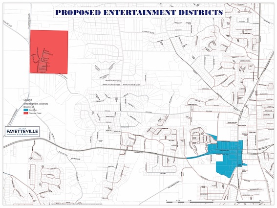 Fayetteville Entertainment Districts Delayed For County