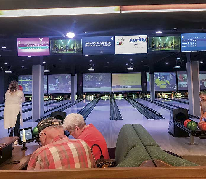 Jim Royal took this photo of a typical bowling center of the type he has in mind.