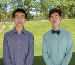 McIntosh High Valedictorian Mark Ni, left, and Salutatorian Samuel Liu. Photo / Ben Nelms.