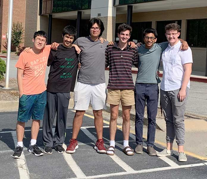 McIntosh High School solar advocates are (L-R) Junwei Chang, Jahan Randeria, Robert Palla, Ted Lord, Man Shah and Max Roggermeier. Not pictured is Zack Stone. Photo/Submitted.