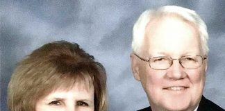 Leigh (R) and Jeanne Blood in their 50th anniversary photo. Photo/Submitted.