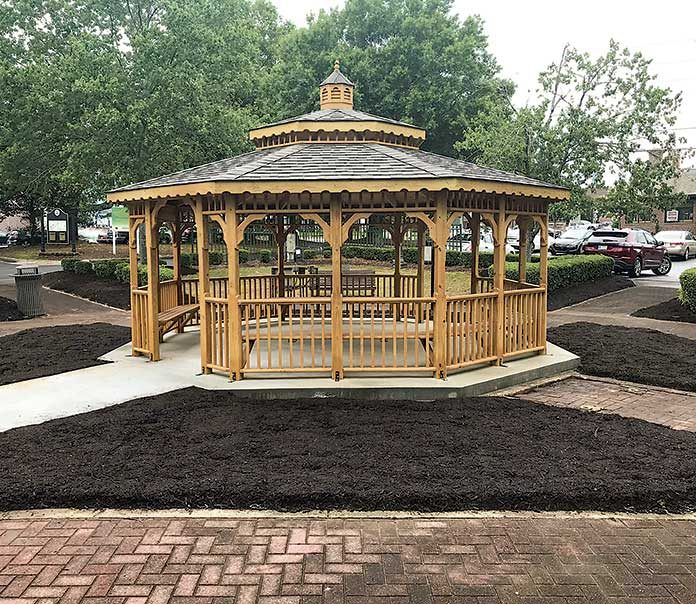 The new Lane Brown Gazebo located in downtown Fayetteville. Photo/Ben Nelms.