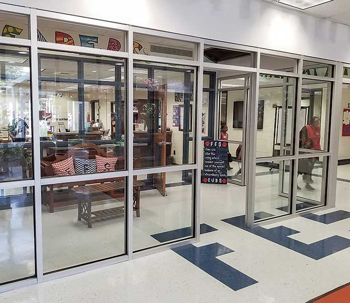 Parents and students entering Fayetteville Elementary School this summer will see a modified entranceway. Photo/Fayette County School System.