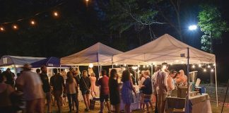 People enjoying Night Market at Drake Field in Peachtree City. Photo/Marie Thomas.