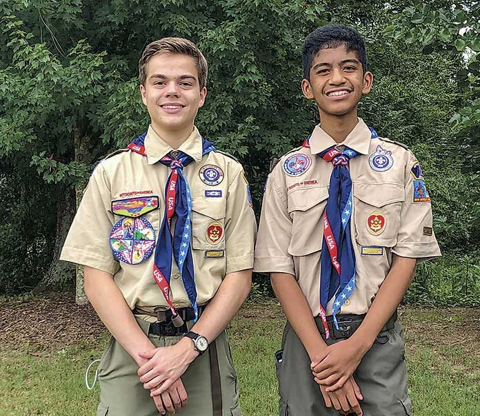 Jared Donahoo (L) and Joshua Soberano are attending the World Scout Jamboree this summer. Photo / submitted