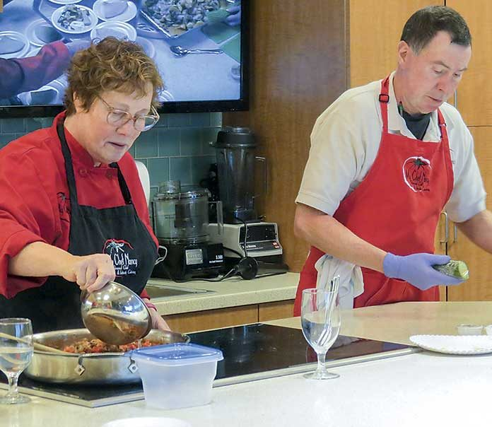 My Chef Nancy leads cooking demonstrations throughout the year at the Thomas F. Chapman Family Cancer Wellness Center at Piedmont Fayette. Photo/Submitted.